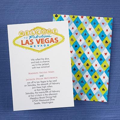 Las Vegas Save The Date Invitations